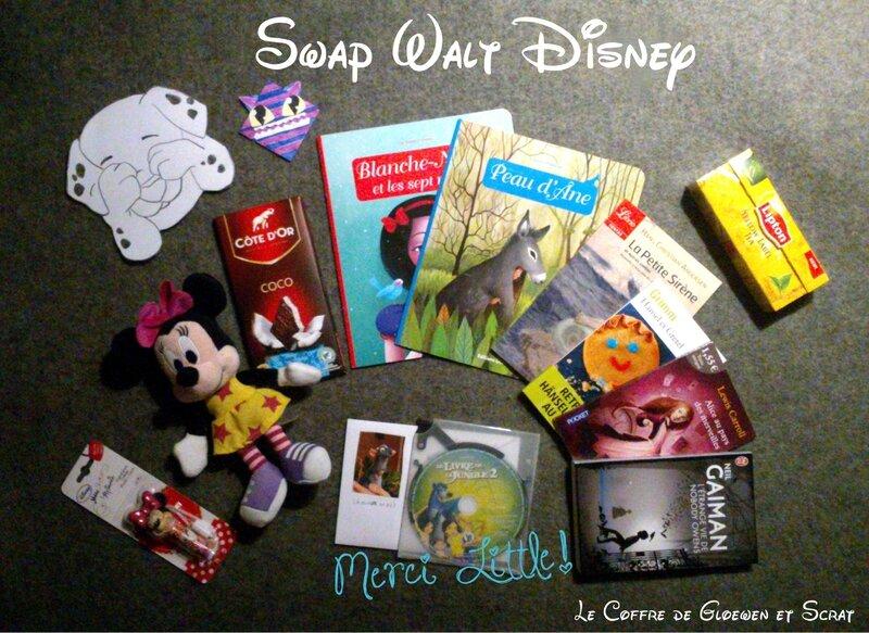 Colis envoye par Little pour le swap Walt Disney (1)