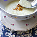Sauce de topinambours et asperge blanche