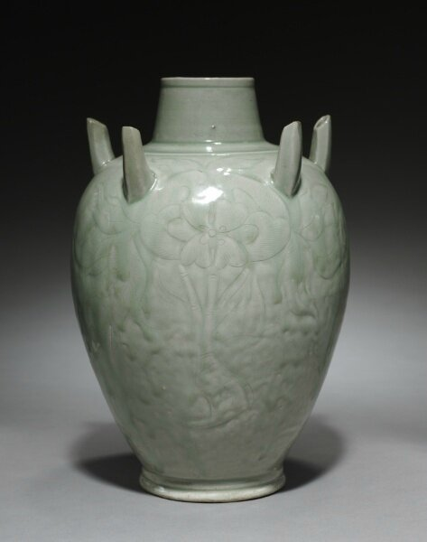 Vase with Peonies and Five Spouts, 900s-1000s, China, Zhejiang province, Hangzhou, Southern Song dynasty