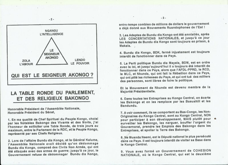 LA TABLE RONDE DU PARLEMENT ET DES RELIGIEUX BAKONGO b
