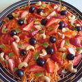 ...salade de carottes aux fruits frais et secs...
