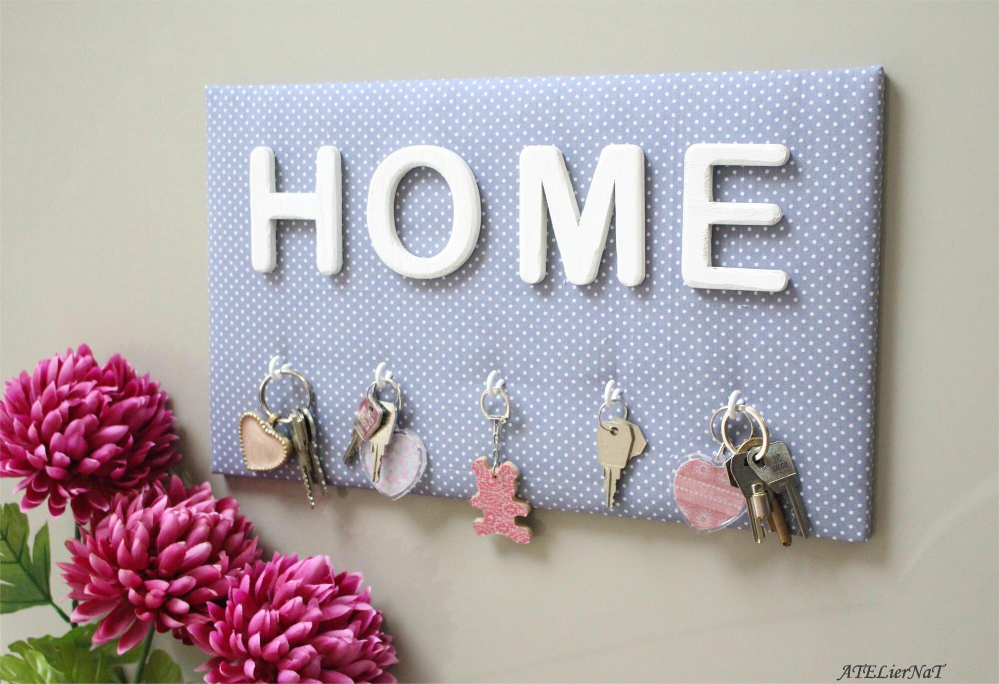 Porte-clés 25,5-44 HOME gris à pois blanc2