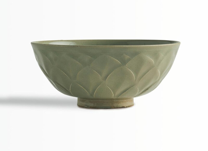 A carved 'Yaozhou' celadon 'Lotus' bowl, Northern Song dynasty (960-1127)