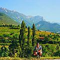 Ascension à vélo: de die (420 m) au sommet du col de rousset(1254 m),porte d'entrée du vercors (drôme)