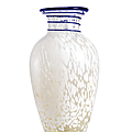 An important and very rare beijing glass vase, qing dynasty, early 18th century