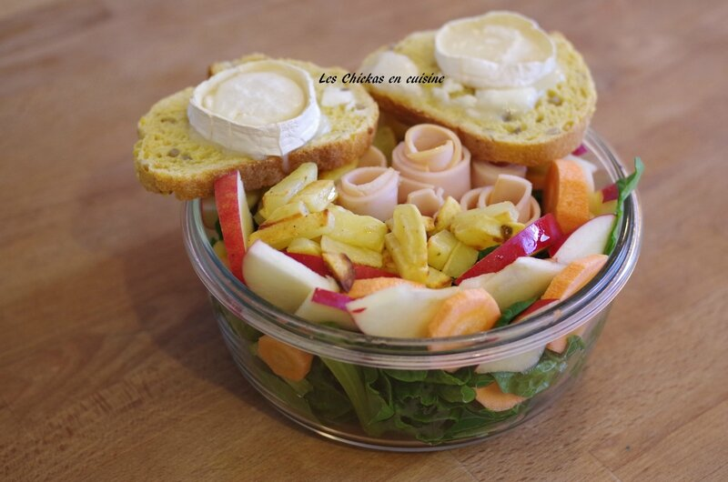 salade épinards-chèvre chaud (5)