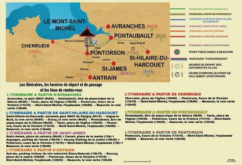 convergence vélo en baie du Mont-Saint-Michel 2016 Vélocité Avranches itinéraire
