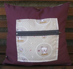 coussin lapin ours verso