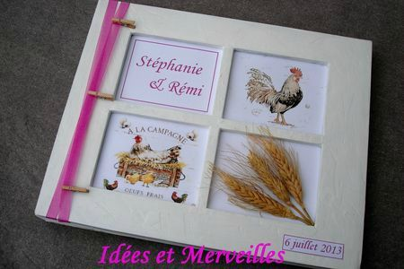 livre d or champetre campagne chic