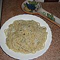 Spaghetti à l'ail et persil