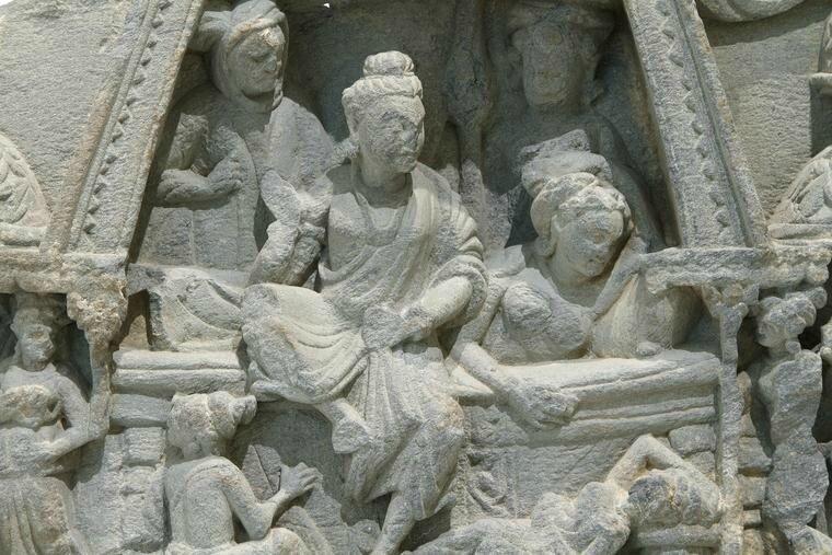 Gandhara Relief Schist (detail)