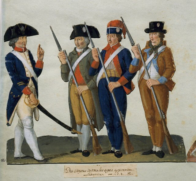 Le 6 novembre 1789 à Mamers : demande de décharge de droits d'octroi et nomination d'un second adjudant de la garde nationale.