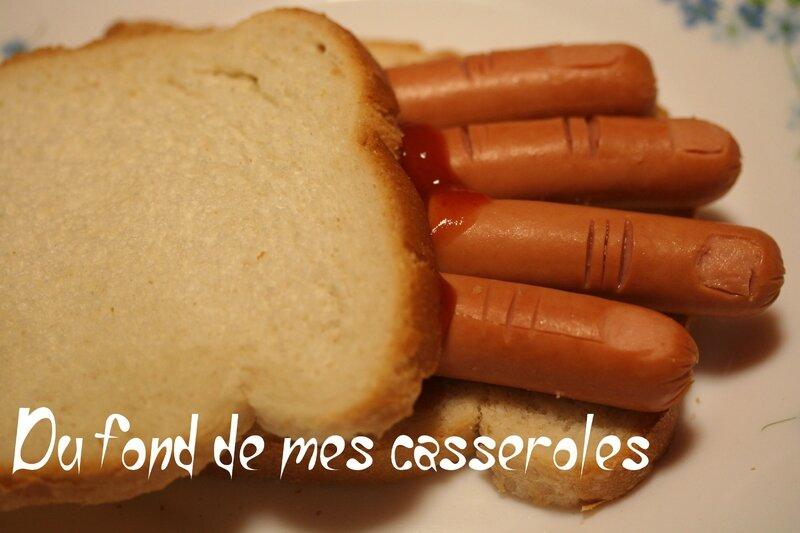 sandwich doigts de sorcière
