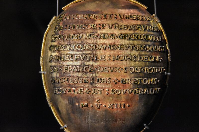 LE RELIQUAIRE D'OR du Cœur d'Anne de Bretagne deux fois reine
