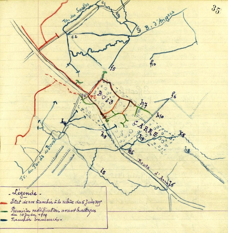 JMO 3e BCP, 6-10 juin 1915, Bois Carré
