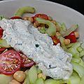 Salade fraîcheur sauce tahini