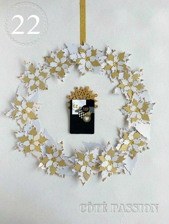 J22 couronne Fleurs papier Côté passion