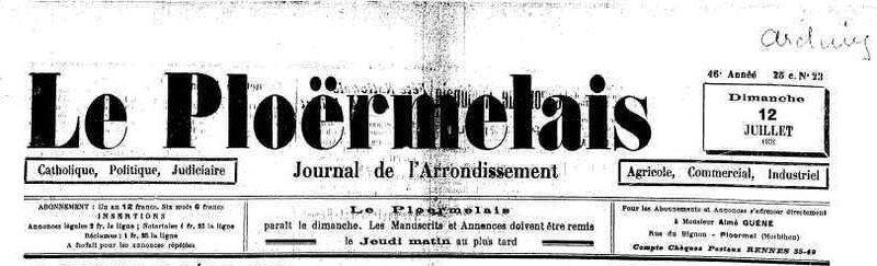 Le Ploermelais 12 juillet 1931_1