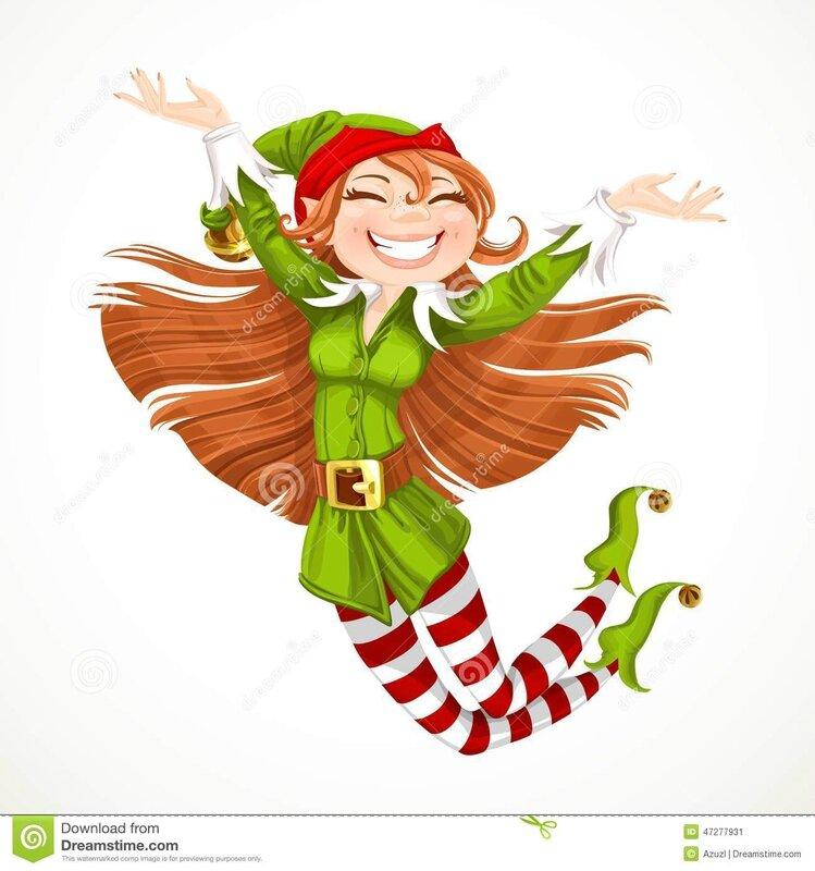 l-elfe-mignon-de-santa-de-fille-sautent-avec-joie-47277931