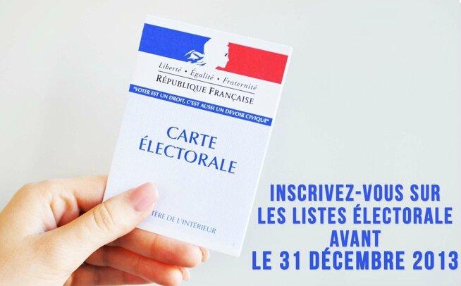 inscription listes électorales 31 décembre 2013 élections municipales européennes 2014