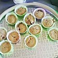 Les muffins framboises chocolat