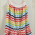 Robe Burda chevrons multicolores