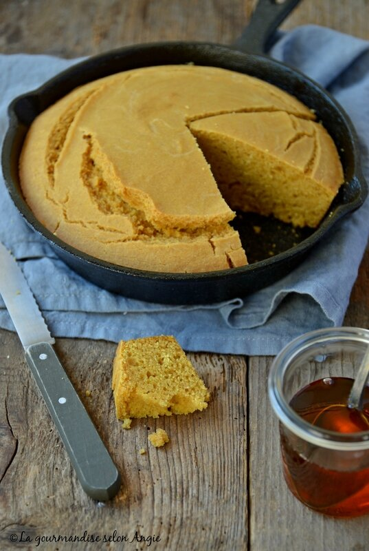 corn bread vegan - pain de maïs