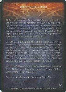 Bâl-Torg l'Ancien - 2nde Inc - Potion d'Hyffaid (Artefact)