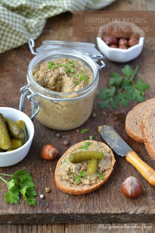 rillettes végétales sarrasin lentilles et noisette sans gluten