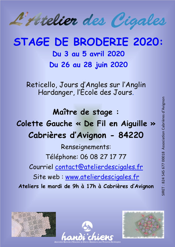 Cigales_afficheStage_2020