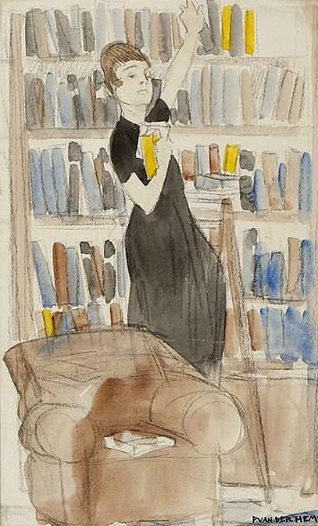 Piet van der Hem The Librarian Mid-20th century