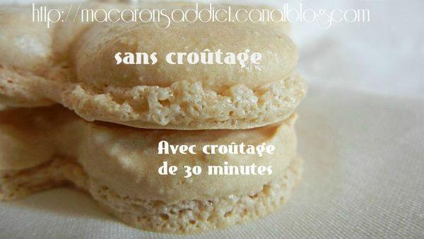 macarons croutage ou non