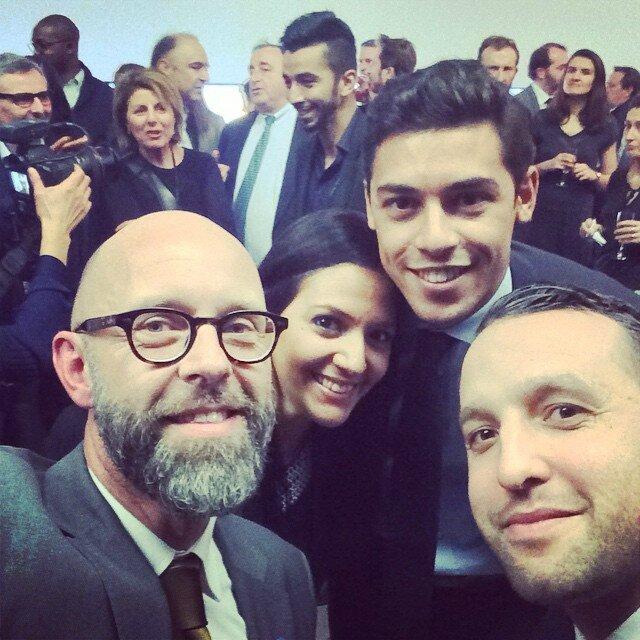 Selfie avec Frédéric Fougerat à la cérémonie de remise des insignes d'officier ONM