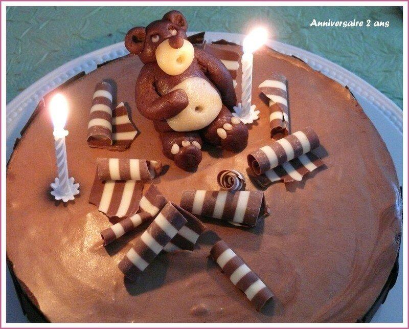 Passionnément Chocolat Le Gâteau Danniversaire Le Tablier Rose
