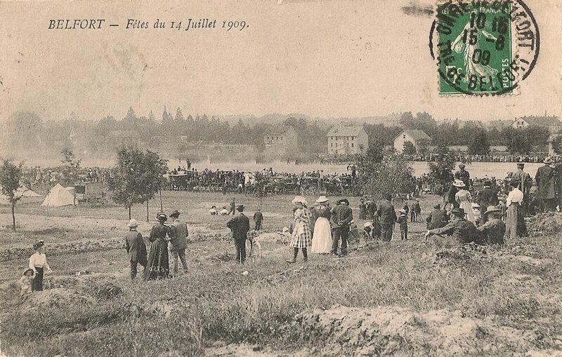 1909 07 14 Belfort CPA 6750 Fête 14 juillet Champ de Mars