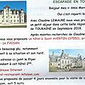 Escapade en touraine, un rendez vous pour les anciens de marrakech - 6-11 septembre