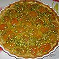 Tarte amande / pistache aux abricots