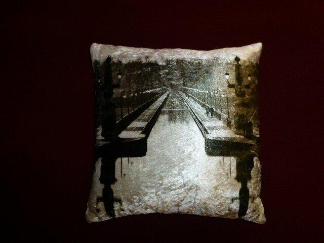 Pont canal de Briare - photo en noir et blanc