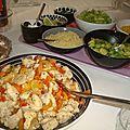 ...chicken fajitas party...(pour f. et c.)