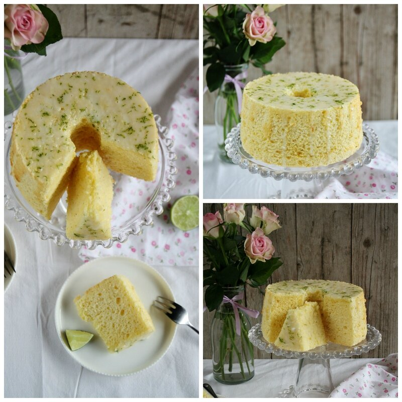 Lime chiffon cake Collage