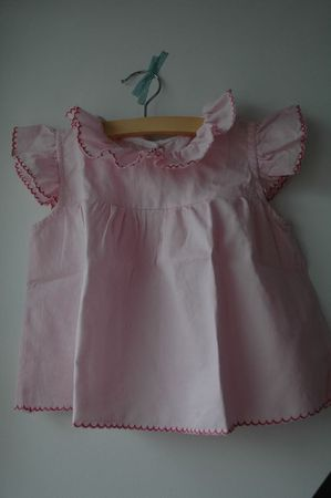 blouse rose papillon et bloomer