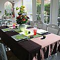 Table pour un déjeuner entre amis ( en couleurs )