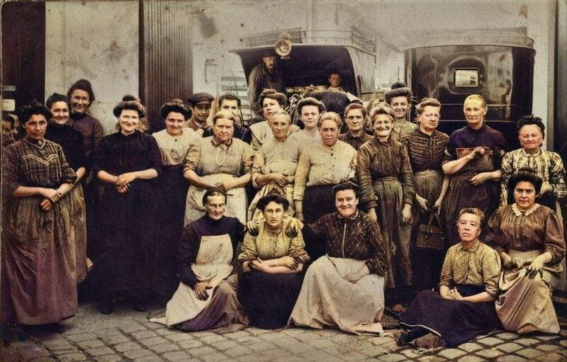 Images d'autrefois-Groupe d'ouvrières (1906)