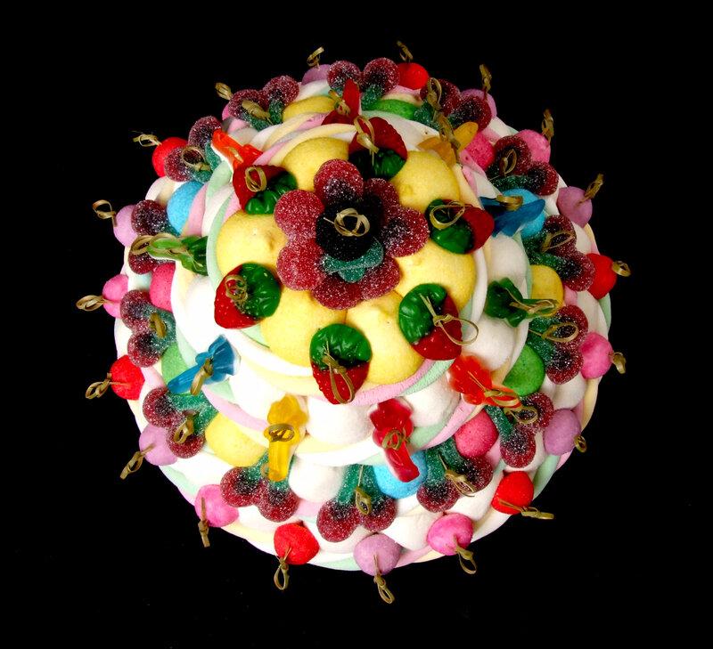 gateau bonbons coloré