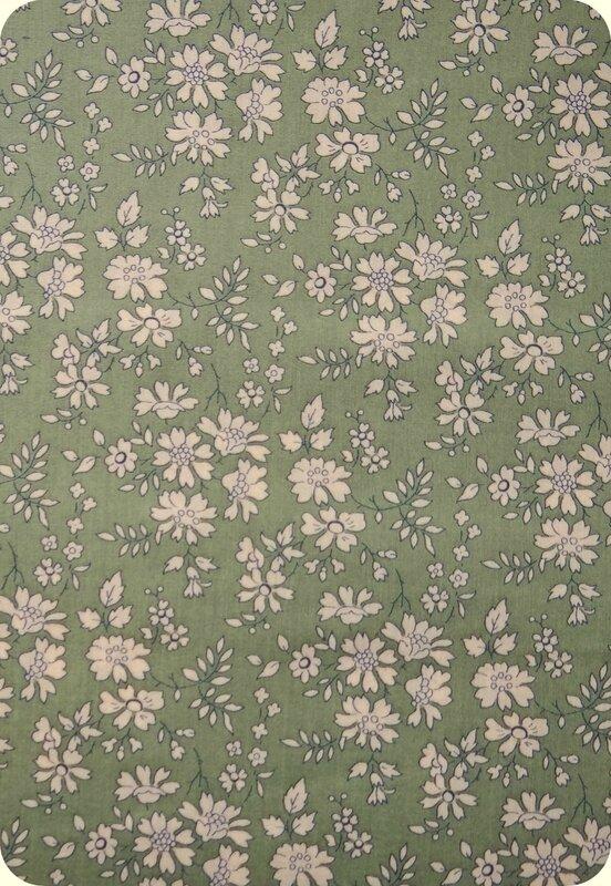 Tissu Liberty vert Capel