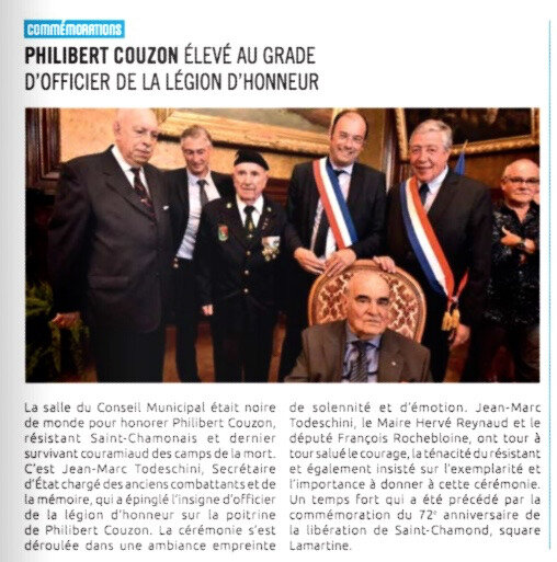 Philibert Couzon, M-Magazine, juin 2016