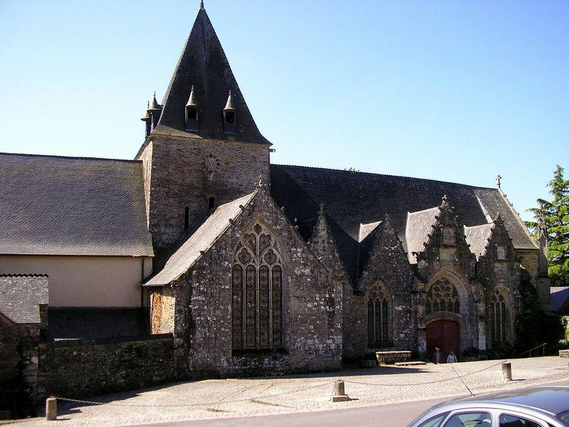 Rochefort en Terre, Collégiale Notre Dame de la Tronchaye