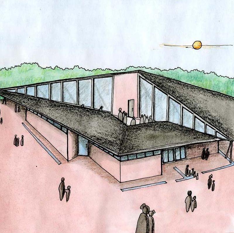 Bâtiment d'Accueil pour un parc ludo-scientifique