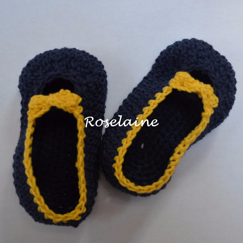 Chaussons Crochet Noeud 1