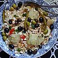 Salade variée-fenouil chou pommes de terre et tomate